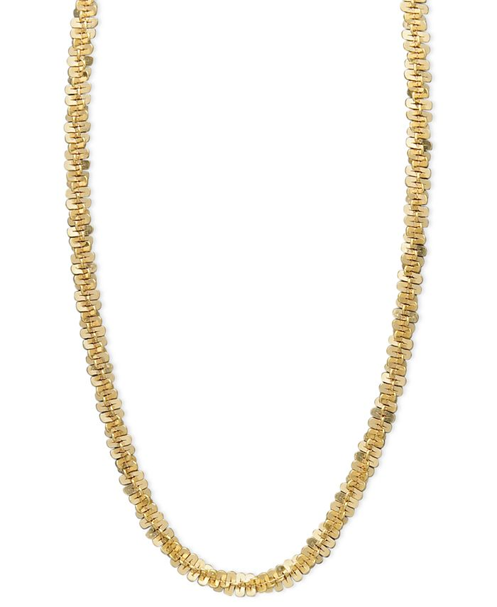 Macy's - 14k Gold Necklace, Faceted Chain