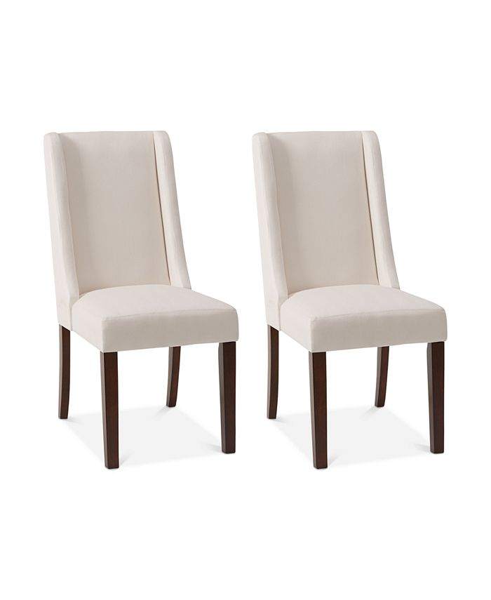 Furniture - Brody Set of 2 Wing Dining Chairs, Direct Ship