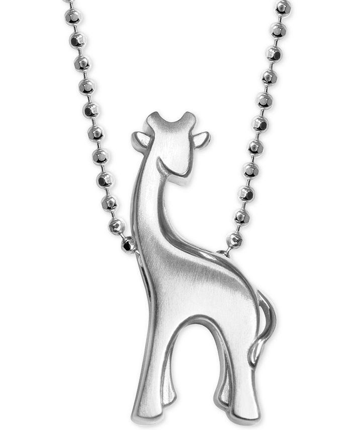 Alex Woo - Giraffe Pendant Necklace in Sterling Silver