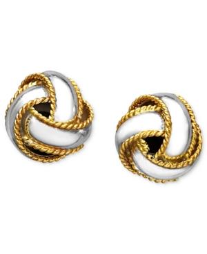Giani Bernini 24k Gold Over Sterling Silver Earrings, Love Knot Stud Earrings