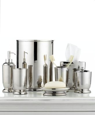 Martha Stewart Collection Polished Metal Trash Can