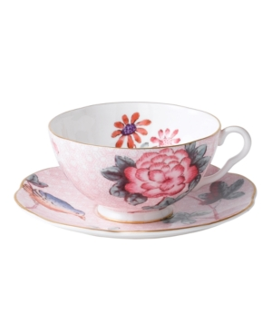 Wedgwood Dinnerware, Pink Cuckoo Teacup and Saucer