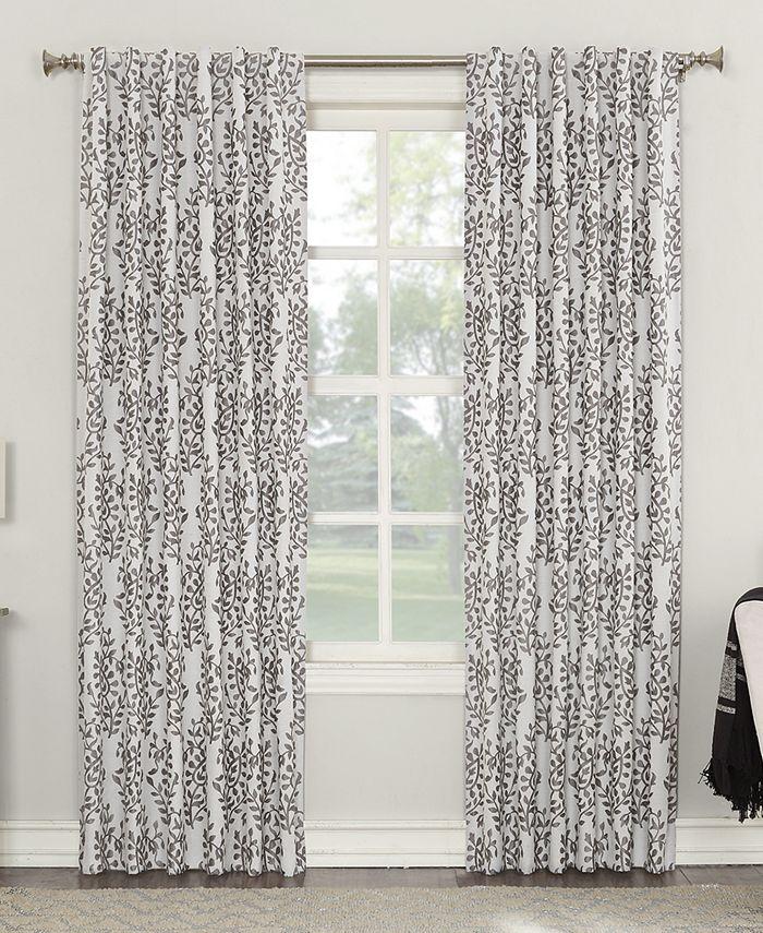 "Sun Zero - Rosalie 52"" x 63"" Floral Blackout Lined Back-Tab Curtain Panel"