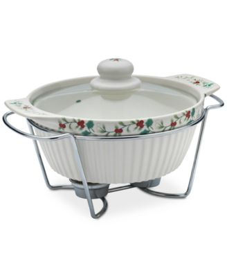 Winterberry 3-Pc. Lidded Soup Tureen & Rack