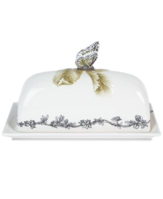 CLOSEOUT! Edie Rose by Rachel Bilson Dinnerware, Rose Covered Butter Dish