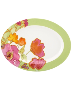 Lenox Dinnerware, Floral Fusion Kiwi Oval Serving Platter