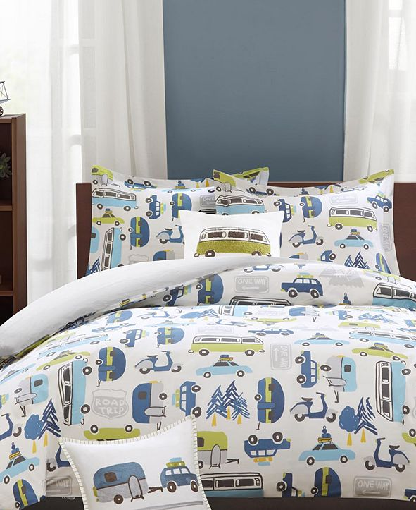 INK+IVY Road Trip Reversible 3-Pc. Twin Duvet Cover Set
