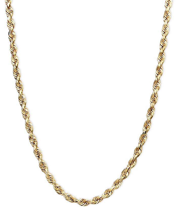 """Macy's - 14k Gold Necklace, 18"""" Rope"""