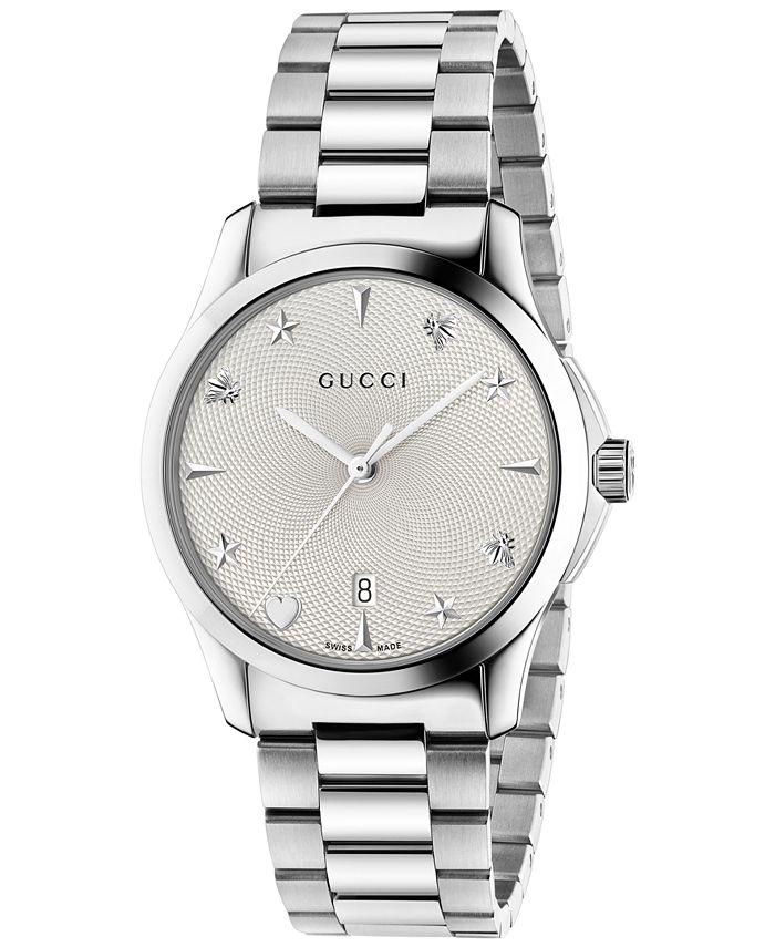 Gucci - Unisex Swiss G-Timeless Stainless Steel Bracelet Watch 38mm