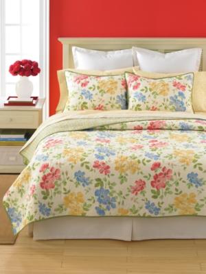 Martha Stewart Collection Bedding, Dorset Flowers Standard Sham Bedding