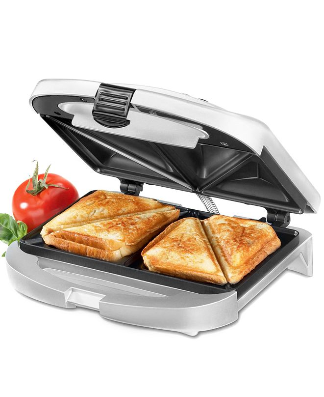 Cuisinart WM-SW2 Sandwich Grill, Brushed Chrome