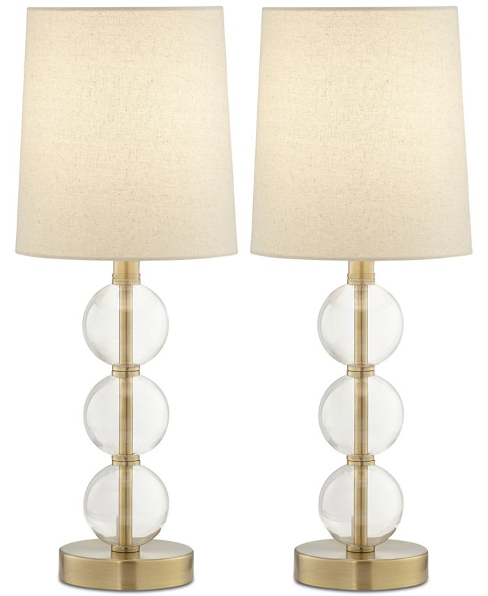 Kathy Ireland - Set of 2 Preslie Table Lamps