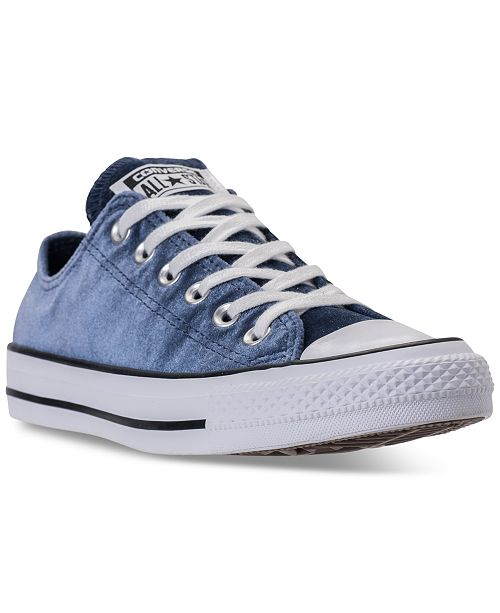 malla entrenador Cuyo  Converse Women's Chuck Taylor Ox Velvet Casual Sneakers from Finish Line &  Reviews - Finish Line Athletic Sneakers - Shoes - Macy's
