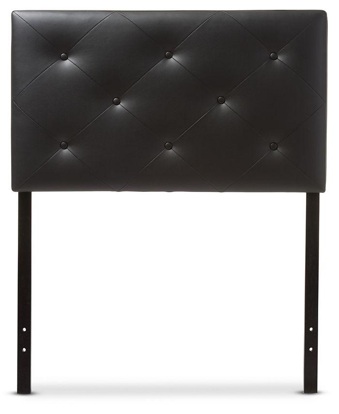 Furniture - Baltimore Faux Leather Twin Headboard, Quick Ship