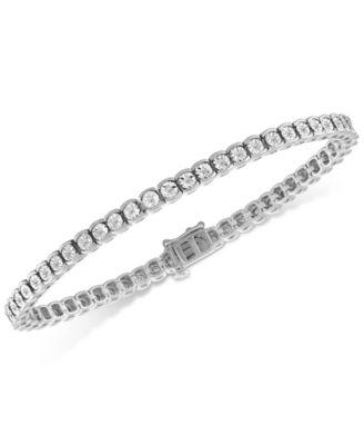 Macy's Diamond Illusion Tennis Bracelet