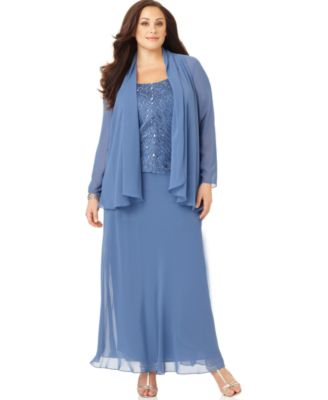 Plus Size Evening Dress with Jacket