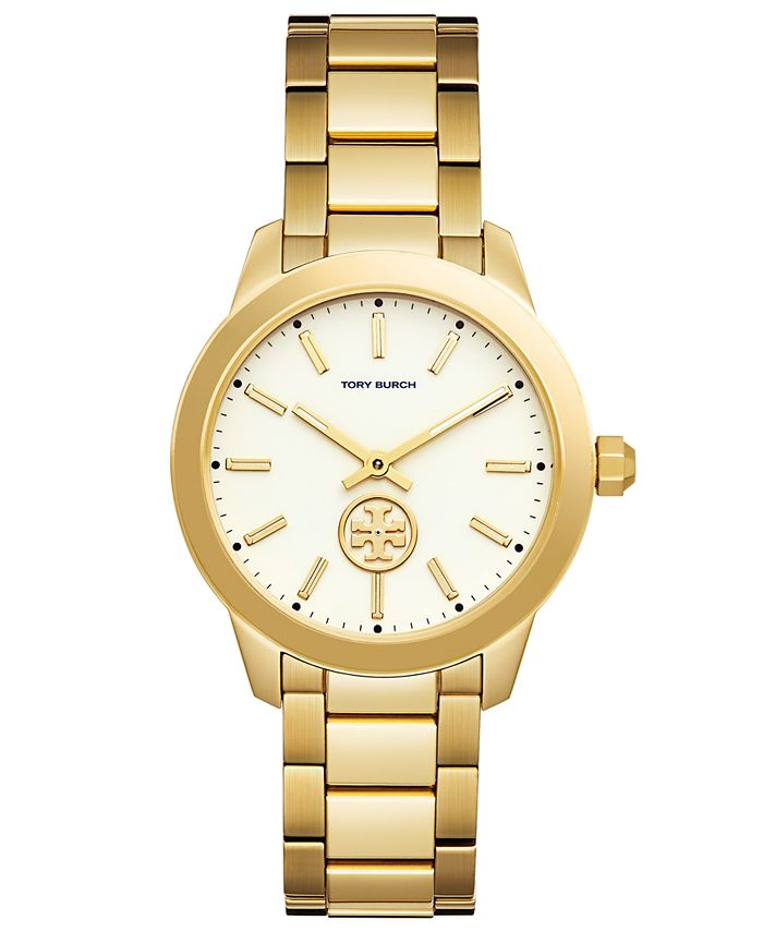 Tory Burch - Women's Collins Gold-Tone Stainless Steel Bracelet Watch 38mm