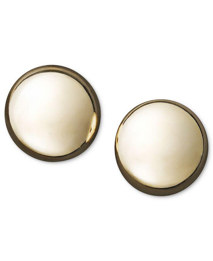 Macy's - 14k Gold Earrings, Flat Ball Stud (7mm)