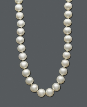 Belle de Mer Pearl Necklace, 14k Gold Cultured Freshwater Pearl Strand (9-10 mm)
