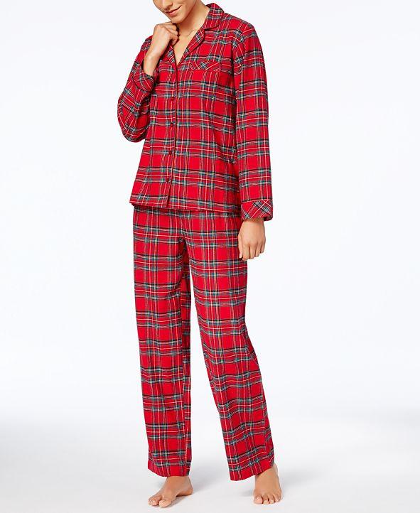 Family Pajamas Matching Women's Brinkley Plaid Pajama Set, Created for Macy's