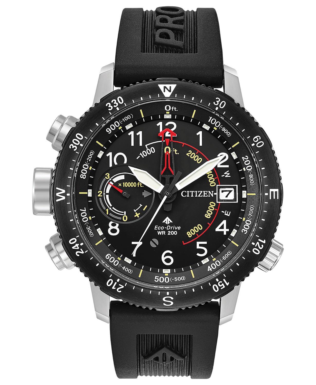 Macy's: Eco-Drive Men's Promaster Altichron Black Rubber Strap Watch @ 7.50 + Free Shipping