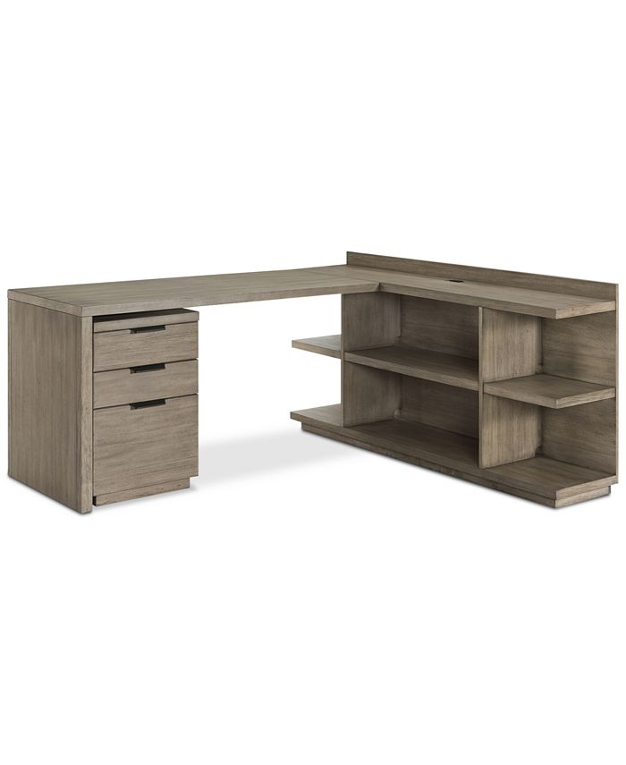 Furniture Ridgeway Home Office Furniture 3 Pc Set Return Desk Peninsula Usb Outlet Bookcase Mobile File Cabinet Created For Macy S Reviews Furniture Macy S