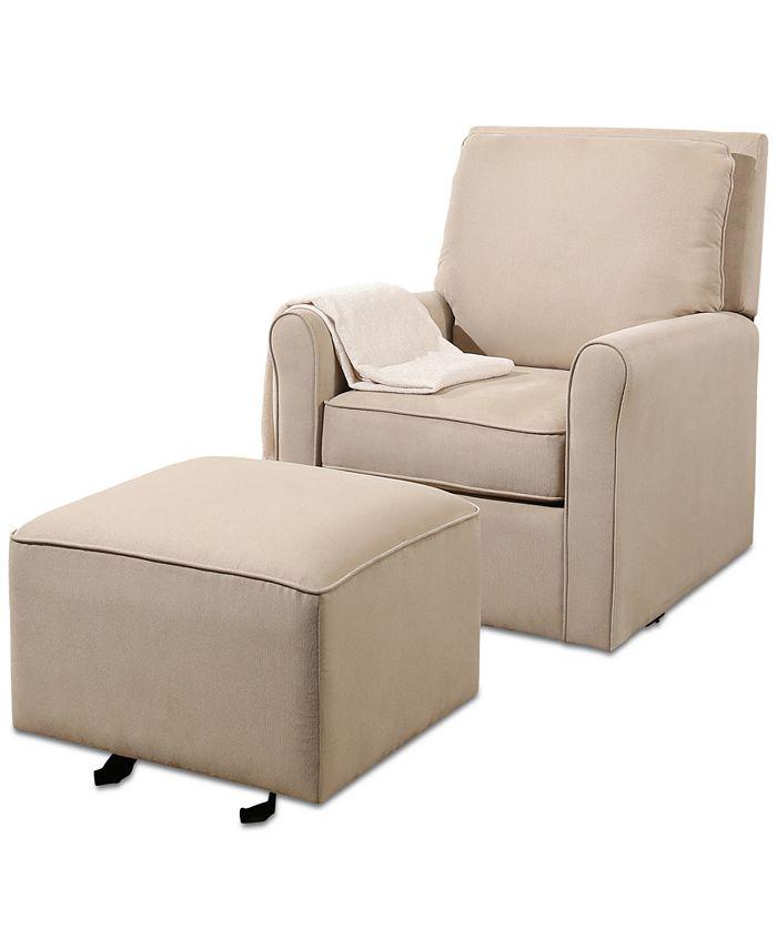 Abbyson Living - Martha Gliding Chair and Ottoman, Quick Ship