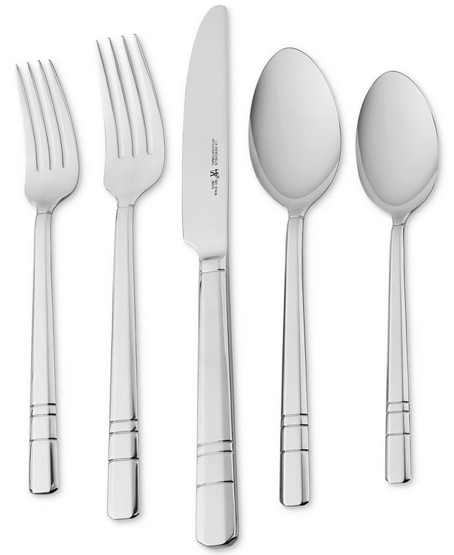 J.A. Henckels International Madison Square 65-Pc. 18/10 Stainless Steel Flatware Set, Service for 12