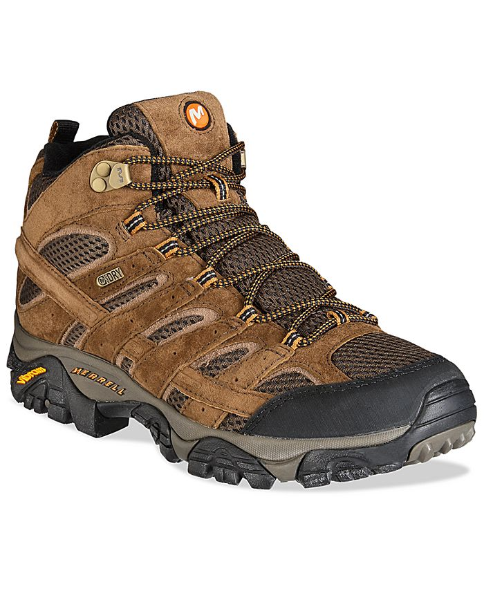 Merrell - Men's MOAB 2 Mid-Top Waterproof Hiker Sneakers