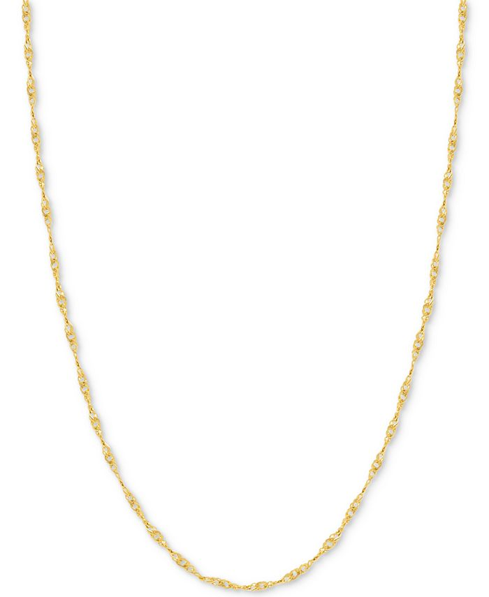 Italian Gold - Singapore Chain Necklace in 14k Gold