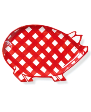 Clay Art Dinnerware, Gingham Barbecue Pig Platter