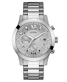 GUESS Men's Chronograph Stainless Steel Bracelet Watch 45mm