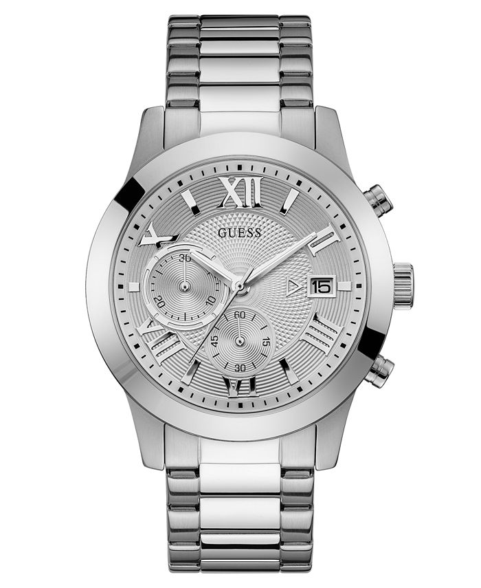 GUESS - Men's Chronograph Stainless Steel Bracelet Watch 45mm