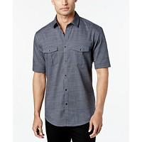 Alfani Men's Warren Textured Short Sleeve Shirt