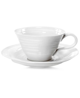 Portmeirion Dinnerware, Sophie Conran White Teacup and Saucer