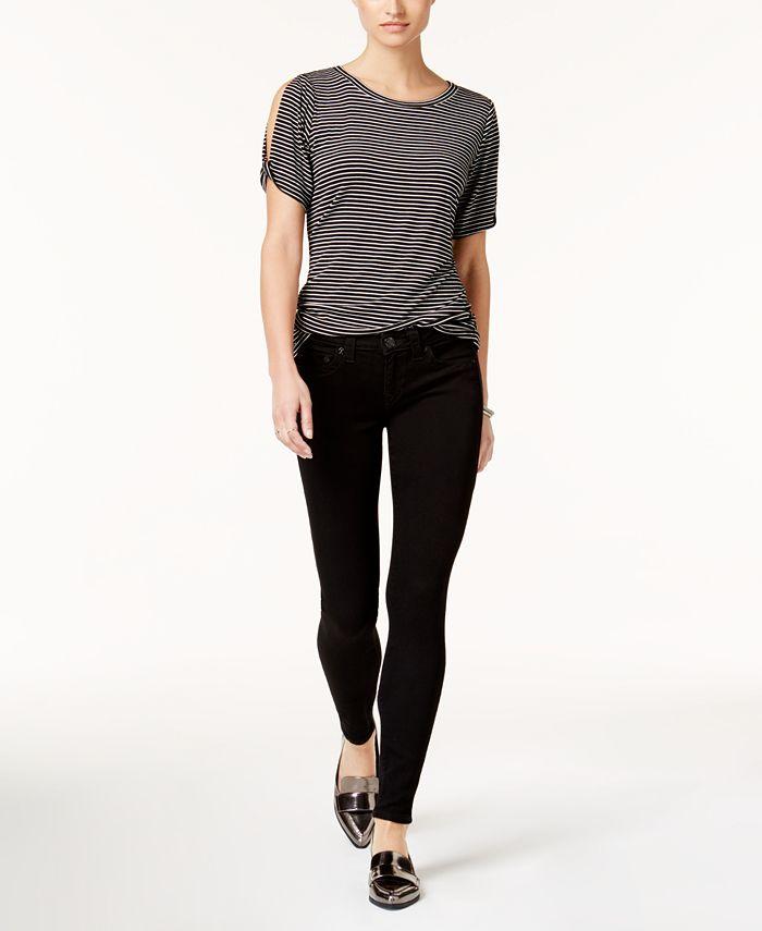 True Religion - Halle Super-Skinny Jeans, Way Back Black Wash