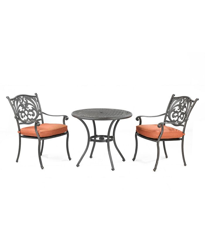 """Furniture - Chateau Outdoor 3 Piece Set: 32"""" Round Dining Table and 2 Dining Chairs"""