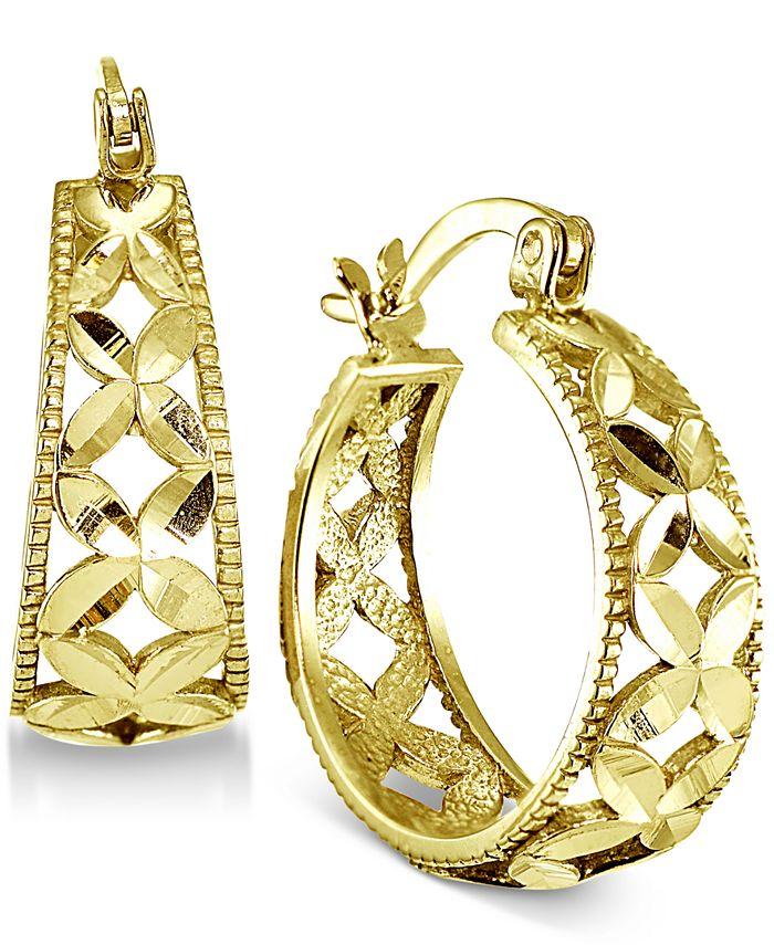 Giani Bernini - Floral Hoop Earrings