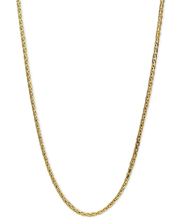 "Macy's - 14k Gold Necklace, 20"" Diamond Cut Wheat Chain"