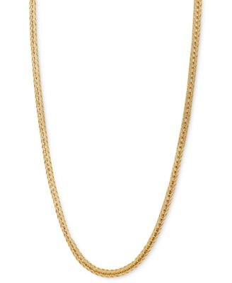 """Italian Gold 24"""" Foxtail Chain Necklace (1-1/3mm) in 14k Gold"""