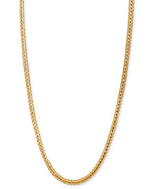"""14k Gold Necklace, 18-24"""" Foxtail Chain"""