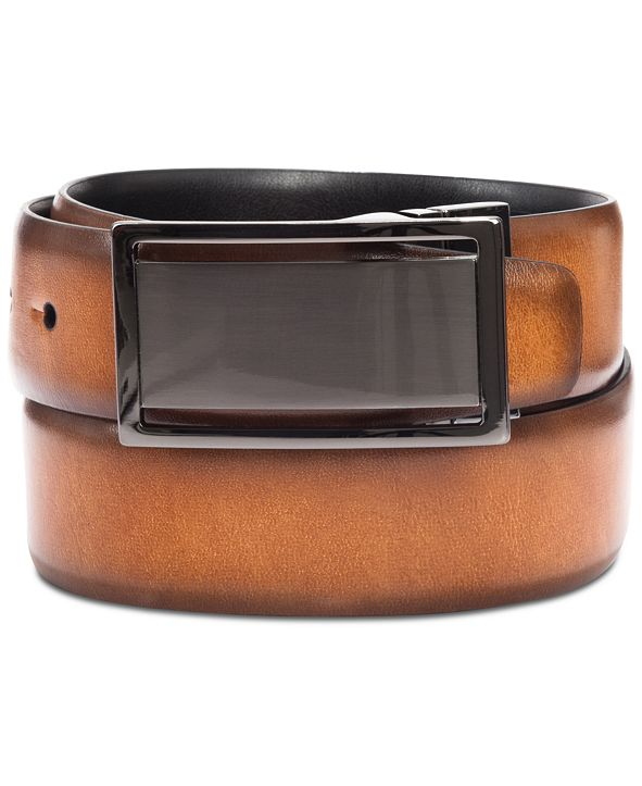 Alfani Men's Reversible Plaque Belt, Created for Macy's