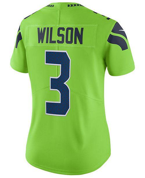 Nike Women S Russell Wilson Seattle Seahawks Color Rush Limited Jersey Reviews Sports Fan Shop By Lids Women Macy S