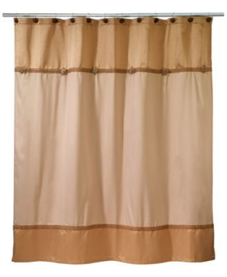 Braided Medallion Colorblocked Shower Curtain