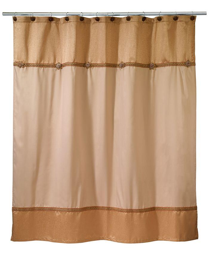 Avanti - Braided Medallion Colorblocked Shower Curtain