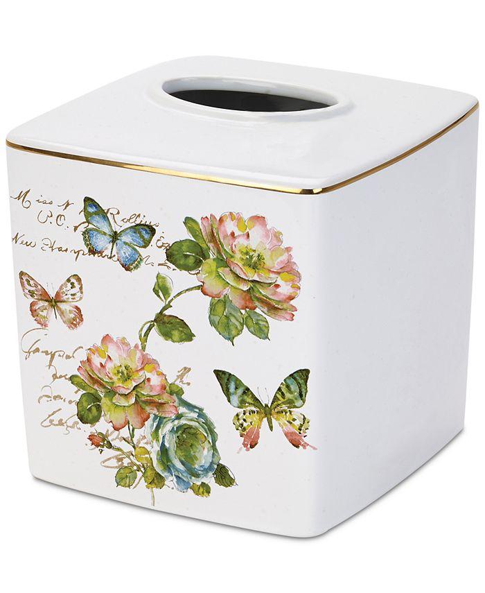 Avanti - White Butterfly Garden Tissue Cover