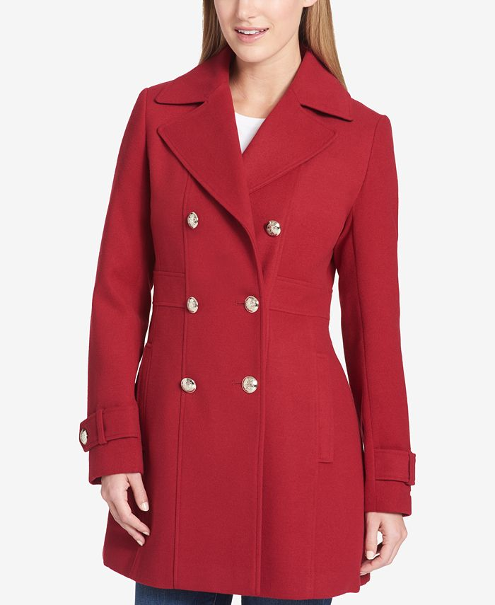 Tommy Hilfiger Double Ted Skirted, Tommy Hilfiger Peacoat Macys