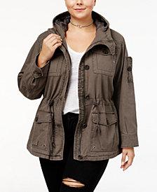 Levi's® Trendy Plus Size  Cotton Hood Utility Jacket