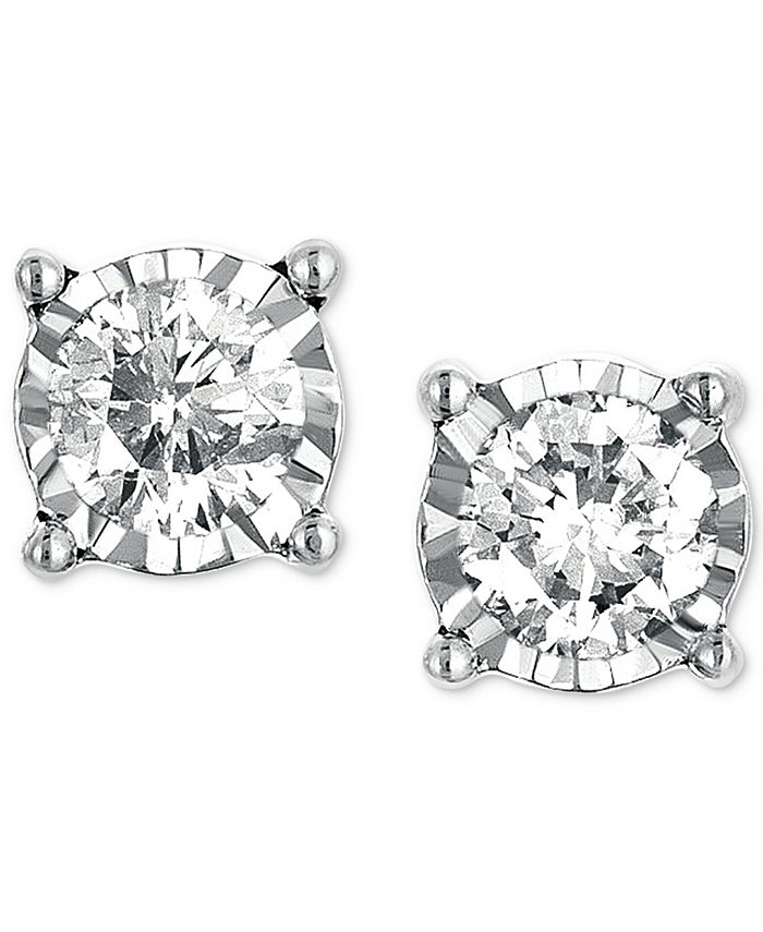 TruMiracle - Diamond Stud Earrings (1/3 ct. t.w.) in 14k White Gold