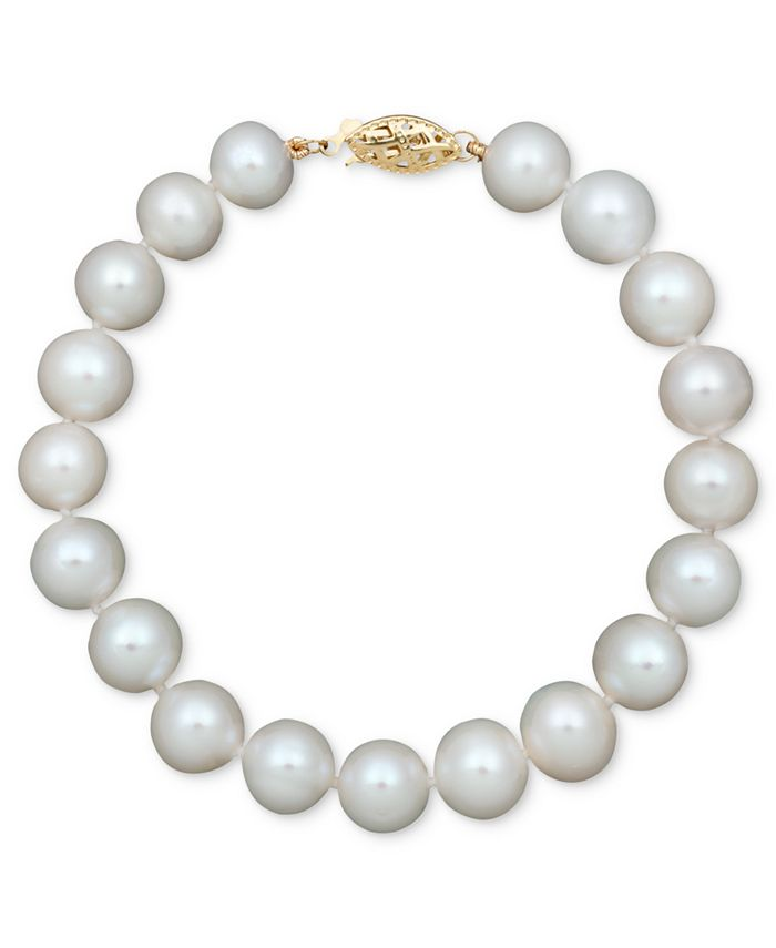 Belle de Mer - Cultured Freshwater Pearl Strand Bracelet in 14k Gold (8-1/2-9-1/2mm)